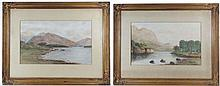 C. 1900 English School A pair of Watercolours