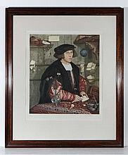 W G Blackall c. 1918 Coloured mezzotint, follower