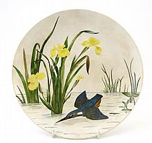 A beautifully hand painted Minton circular plate,