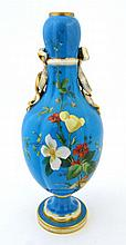 A 19thC Minton vase of double gourd shape, painted