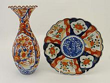 Items of Imari wares comprising a plate with lobed