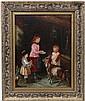 John Locker XIX Oil on canvas ' The Blind Boy and