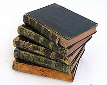Books: 5 volumes of '' The Sporting Mirror ''1882-1885, to include volumes 3, 4, 5, 6 and 8, edited by ' Diomed ' , published by Harry Etherington , London. quarter leather bound with gilt lettering and detail to spines.
