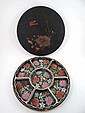 A Japanese late Meji period circular laquered