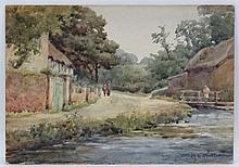 ME Walter c.1900, Watercolour, '  Croyde nr Willocombe Devon ' ( Woolacombe