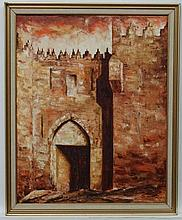 Susun ? 72 Israel, Oil on canvas, Damasgate, Jerusalem, Signed and dated lo