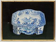 Rickarby Spencer 1995, Oil on board, ' 1838 Ridgeway's Tyrolean Dog's bowl