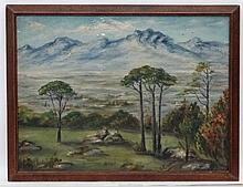 G.Clamp Early XX South Africa, Oil on prepare academyartist's board, ' View