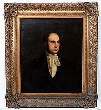 Early - mid XIX English Portrait School, Oil on canvas, Portrait bust of a