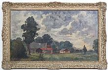 Edward F Kidd early-mid XX, Follower of SJ 'Lamorna ' Birch , Oil on canvas