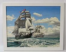 F C Woodington  XX (Faversham Art Society), Oil on canvas,  An American Bri