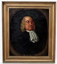 XVIII / XIX Continental School, Oil on canvas, within an oval, Portrait of