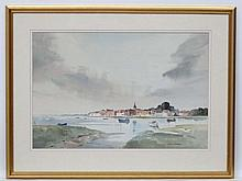 John Worsdale 1989, Watercolour, ' Old Bosham ',  Signed lower right and wi