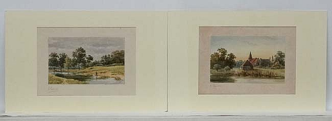 Harold Lawes (1865-1940), Watercolours, a pair, Hampstead and Highgate, S