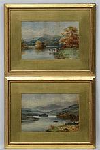 L Hawes XIX, Watercolour and gouache , a pair, ' The Church Pool ' Upper Ri