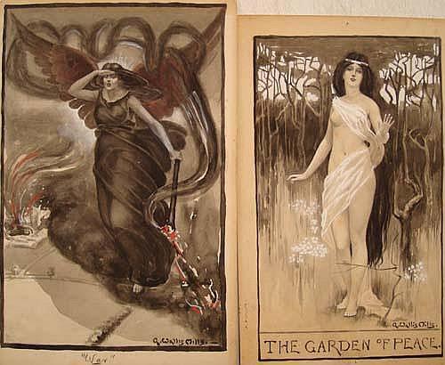 Arthur Wallis Mills (1878-1940) Pair of Art