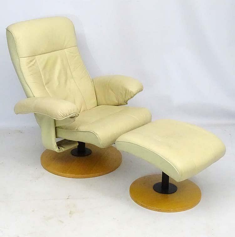 Strange Vintage Retro A Scandinavian Cream Leather Stressless Machost Co Dining Chair Design Ideas Machostcouk