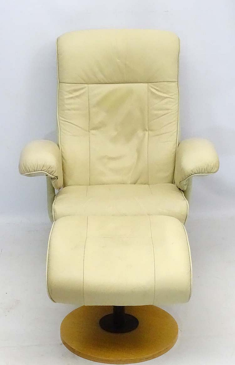 Super Vintage Retro A Scandinavian Cream Leather Stressless Ibusinesslaw Wood Chair Design Ideas Ibusinesslaworg