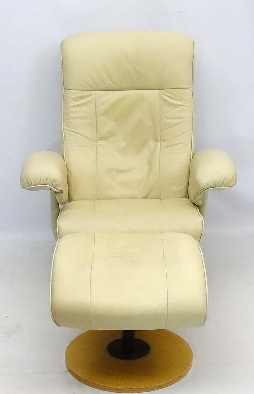 Groovy Vintage Retro A Scandinavian Cream Leather Stressless Machost Co Dining Chair Design Ideas Machostcouk