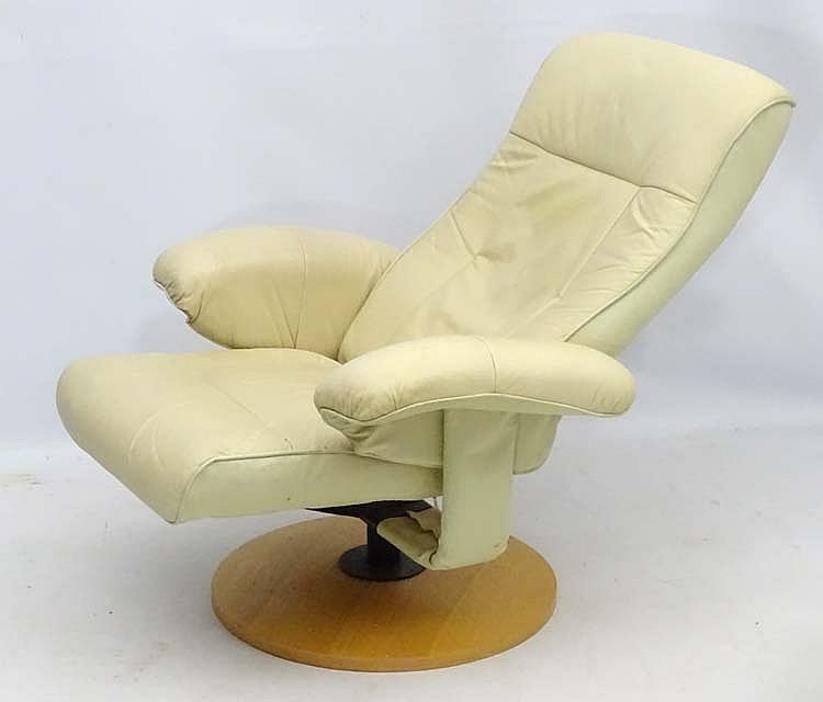 Fine Vintage Retro A Scandinavian Cream Leather Stressless Machost Co Dining Chair Design Ideas Machostcouk