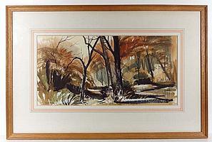 Peter Atkin '69 Pen ink and watercolour ' Autumn