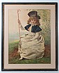 Phil May 1901 Talter framed cartoon ' The Humour