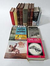 Books: A quantity of sporting books including F B