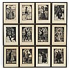 Povl Christensen (1909-1977), Woodcut engravings f, Povl Christensen, Click for value