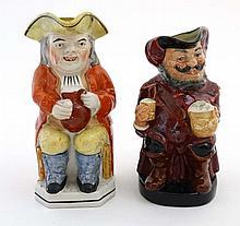 A Royal Doulton ''Sir John Falstaff '' Toby jug '' , bears makers stamp to