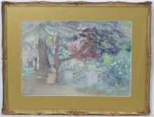 George Herbert Jupp (1869-?), Watercolour, Reading…