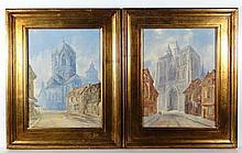 Van Holbien XIX Flemish School Pair of