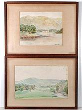Abraham Hulk II (1851-1922) Pair of Watercolours