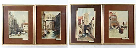 David Donald ( fl. c. 1895-1925) Set of 4 hand