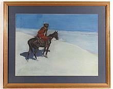 C. J. Ostach after Remington ( 1861-1909) Pastel