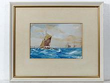 ? H Smith mid XX Watercolour and gouache Boats on