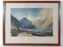 William Heaton-Cooper (1903-1995) Coloured print '