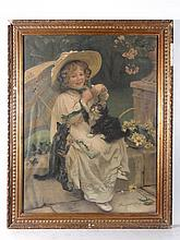 Victorian chromolithograph 'You Mustn't Pull'