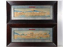 C.1900 Chinese School A pair titled Cork pictures
