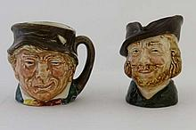 A pair of Royal Doulton gentlemen character jugs,