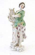A Meissen figurine depicting a classical female