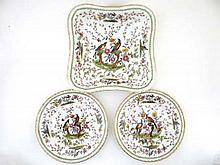 19thC Continental porcelain wares comprising