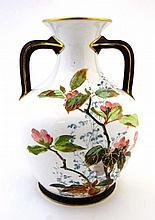 A Royal Doulton Burslem hand painted vase, gold