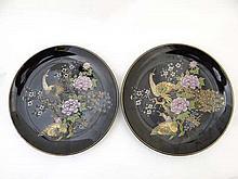A pair of Japanese Shibata porcelain plates