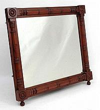 Manner of George Bullock: A 19thC large spruce pine over mantle mirror 51 1