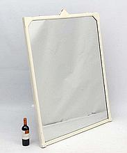 A painted 19thC over mantle mirror 53 1/2'' high x 40 1/2'' wide