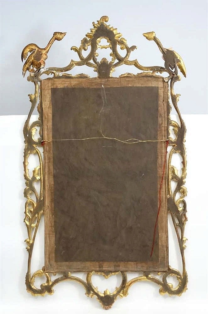 A late 20thc chinese chippendale style gilt wall mirror 61 1 for Asian style mirror
