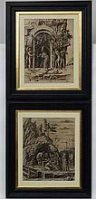 After Andrea Mantegna (Italian, 1431-1506), A pair of reprint Heliogravures