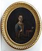 XVIII English Portrait School Oil on canvas, a