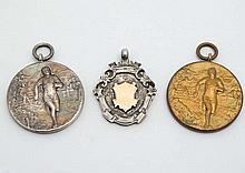 Running interest ; A silver fob hallmarked Birmingham 1913 maker IS Greenbe