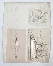 Sir George Hayter (1792-1871) Four pen and ink and